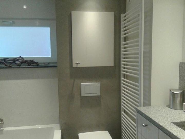 Badkamer en toilet beal mortex. - Stuc Ydee Stucadoor Arnhem
