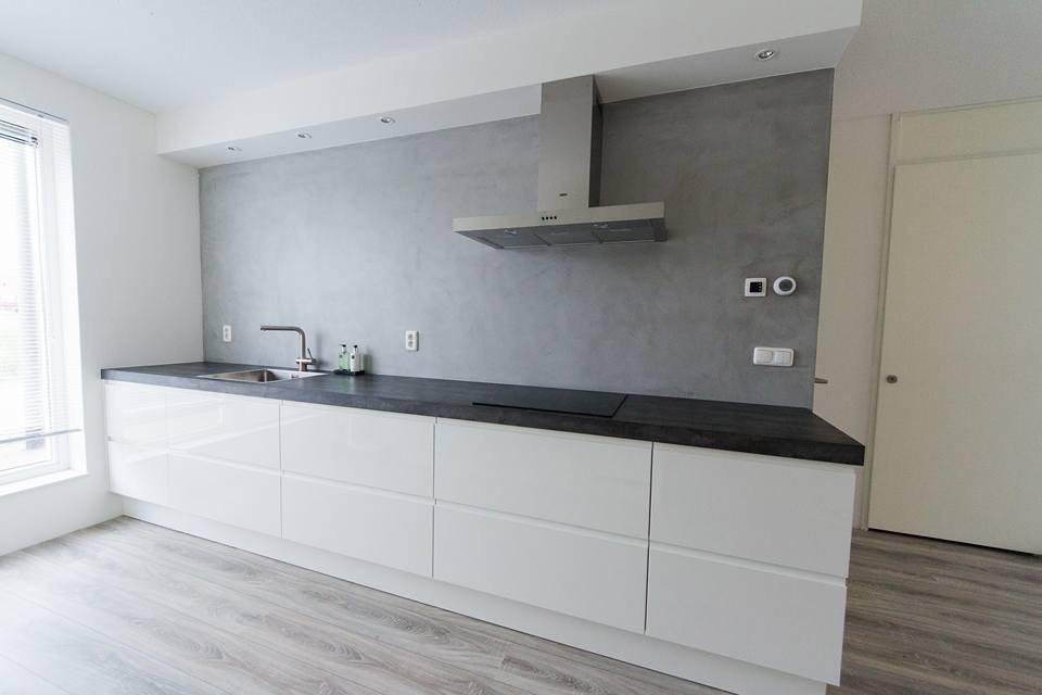 Glad Keuken Achterwand : Badkamer en keuken beal mortex stuc ydee stucadoor arnhem