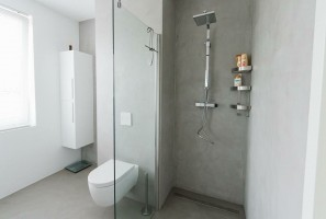 Badkamer en keuken Beal mortex - Stuc Ydee Stucadoor Arnhem